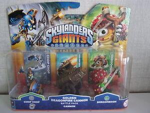 Skylanders-Giants-Golden-Canon-de-Dragonfire-Pack-Bataille-Neuf-et-Scelle