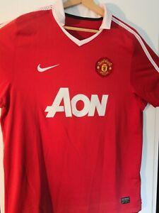 Manchester United Shirt AON Size L Nike DRI-FIT Man Utd 2010 2011 short sleeve