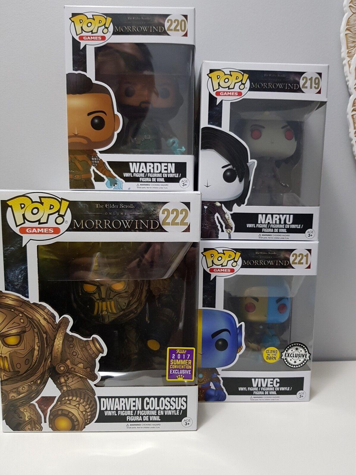 Venta en línea precio bajo descuento The Elder Scroll dawrven coloso en línea Morrowind Morrowind Morrowind conjunto abovedado FUNKO POP   oferta especial