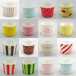 Cake-Baking-Paper-Cup-Cupcake-Muffin-Cases-Wedding-Home-Party-Various-Designs