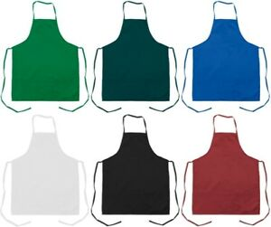2 pack new spun poly craft commercial chef brand kitchen bib aprons high quality