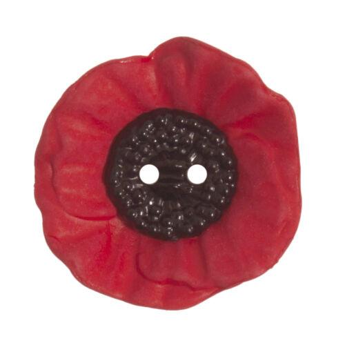 25x Poppy Button 2 Hole 28mm Sewing Craft Tool Hobby Art UK Bulk Filoro