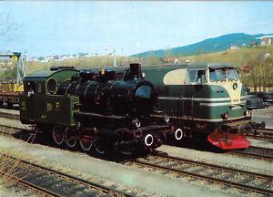 AK-Regentalbahn-Dampflok-034-Bayerwald-034-und-Diesellok-D1-um-1980