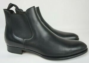 To Boot New York Shelby Mid Chelsea Ankle Boot Black Leather Men's Size 10