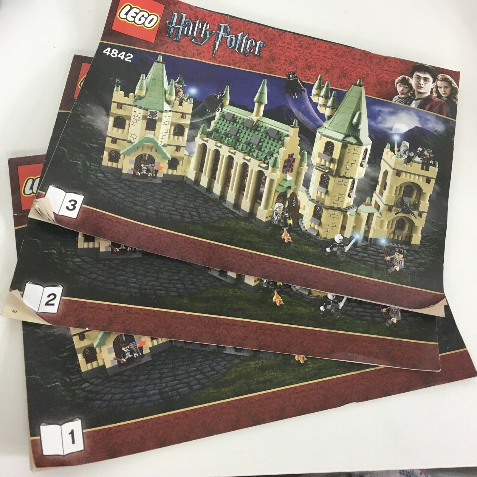LEGO Harry Potter Hogwarts castle 4842 4842 4842 Manual Instructions Only books 1 2 3 4941e9