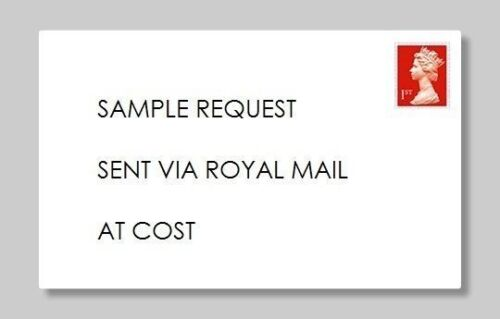 Postage Cost Sample Request /& Postage Charge £3 Per Sample