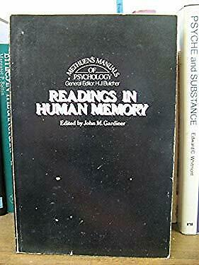 Readings in Human Memory by Gardiner, John M.