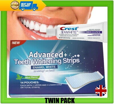 56 Teeth Whitening Strips Advanced Two 3d Whitening Toothpaste