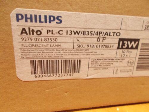 NEW Philips PL-C 13W//835//4P ALTO Compact 4-Pin 13W Fluorescent Lamp G24q-1