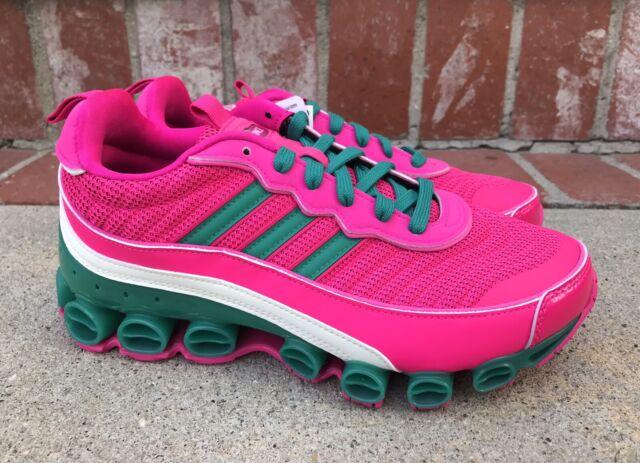Adidas Originals Microbounce T1 Size 9 Womens Shock Pink Green EF4886 Boost