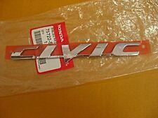 """HONDA CIVIC FD 2006-2012 CHROME REAR LOGO EMBLEM DECAL 3D """"GENUINE""""  (si)"""