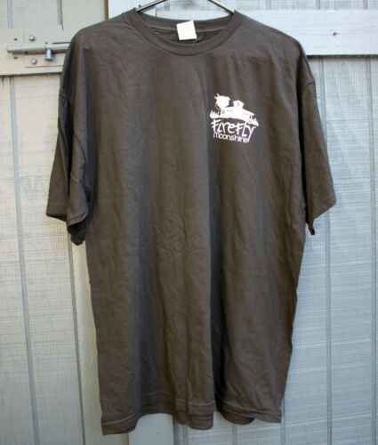 Size XL FIREFLY MOONSHINE Men/'s Promo Black T-shirt Bartender