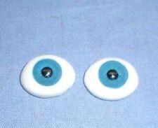"pair of acrylic glass eyes blue lensshape 21 x 16 mm / 0.81"" x 0.65"""
