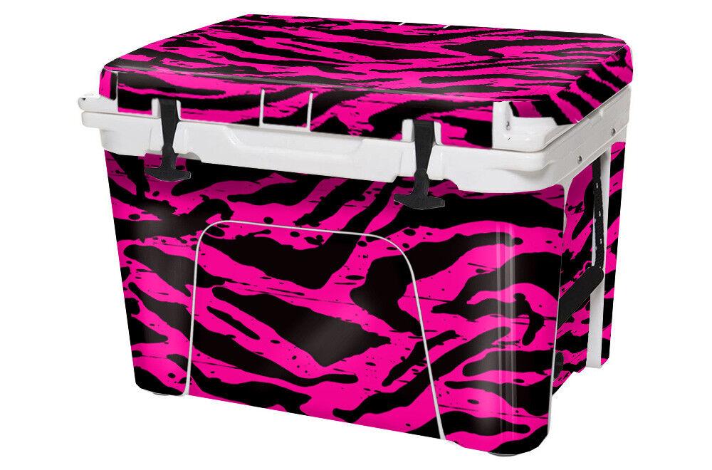 USATuff Custom Cooler Decal Wrap fits fits fits YETI Tundra 45qt FULL Zebra Girl Rosa ec9d0f