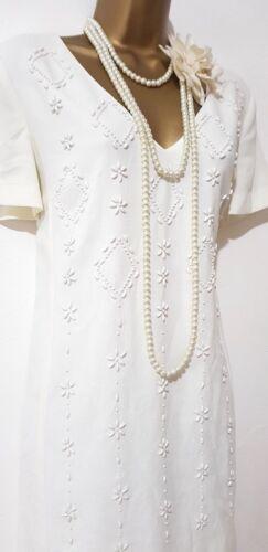 Charleston stijl Pearltunic 10 Volgende Flapper 20 kralen Sz Gatsby jaren Sequin Deco HEwwYqfz