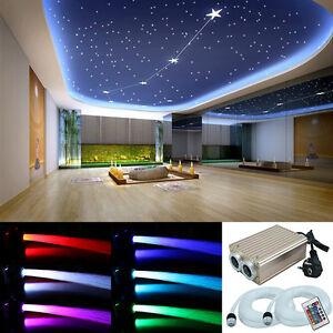 LED-Sternenhimmel-Glasfaser-Lichtfaser-780-Lichtpunkte-Leuchten-32W-Dimmbar-RGB