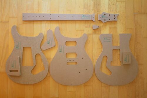Gitarrenbau z.B PRS Custom 24 Schablonen Templates f Paul Reed Smith Reparatur