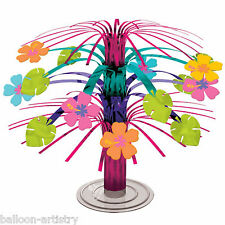 Tropical Hawaiian Flower Mini Foil Cascade Table Centrepiece Party Decoration