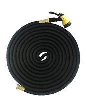 Latex Deluxe 25 50 75 100 FT Expanding Flexible Garden Water Hose +Spray Nozzle