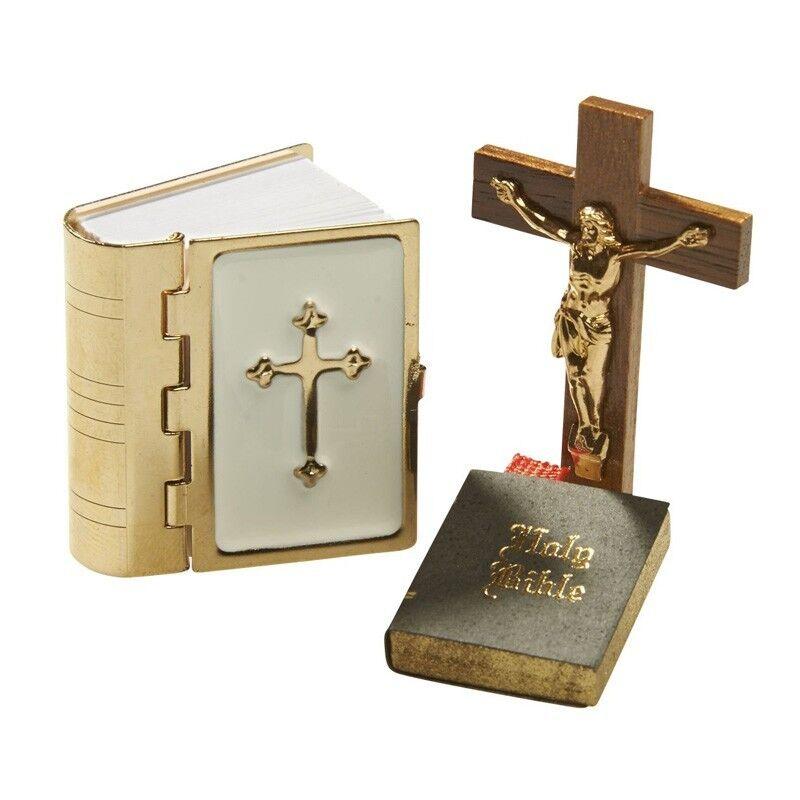 Crucifix et Bibel-Set 27907 Bodo Hennig Maison de Poupée Maison de Poupée