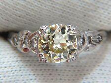 $13500 1.33c vintage class old mine cut natural diamond engagement ring platinum