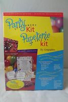 Geographics Party Stationary Kit Brand - Kit Makes Cards, Tags, Invitations
