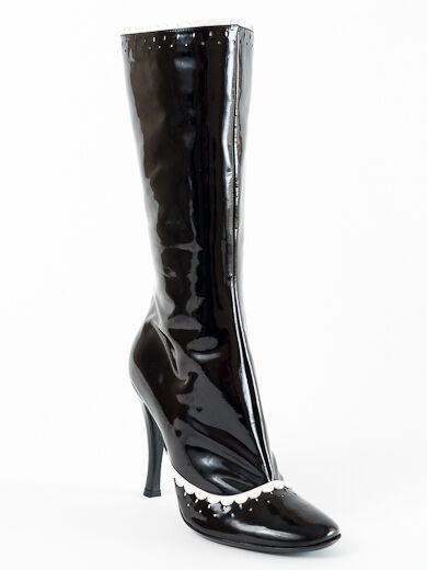 spedizione veloce e miglior servizio New New New Casadei nero & bianca Patent Leather  stivali Dimensione 36 US 6  disegni esclusivi