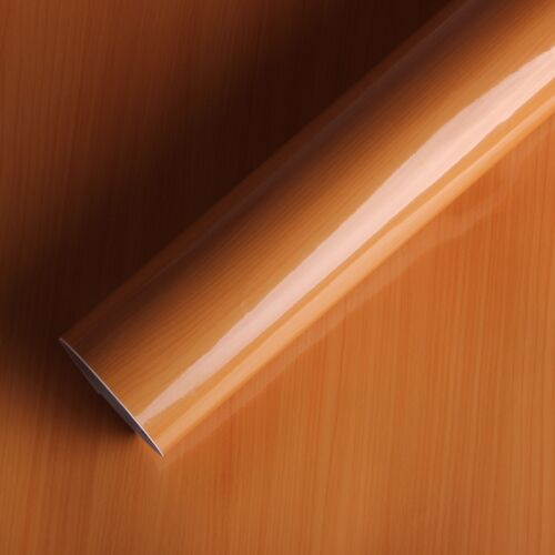 High Glossy SelfAdhesive Wood Grain Film Sticky Back Vinyl Contact Paper Sticked