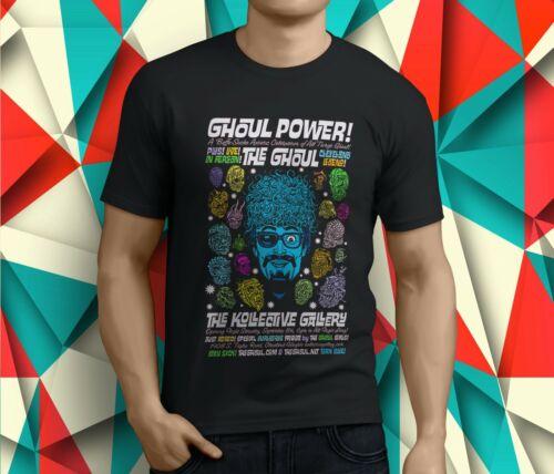 New Popular The Ghoul TV Host Detroit Cleveland Retro Men/'s Black T-Shirt S-3XL