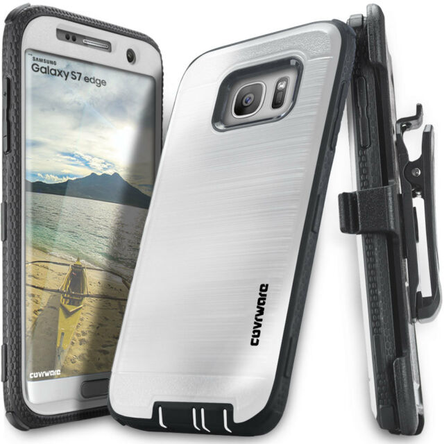 the best attitude c7aea 7cadc COVRWARE Samsung Galaxy S7 Edge Full Body Armor Case Built-in Screen  Protector