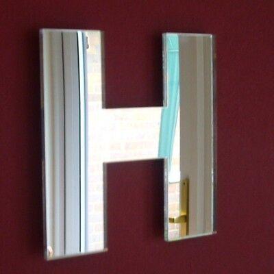 Lettre N miroirs contemporaine 3mm Acrylique Miroir, plusieurs tailles disponibles