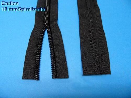 Persenning Reißverschluss Endlos Breite 40 mm Spiralbreite 10 mm Schwarz L10001
