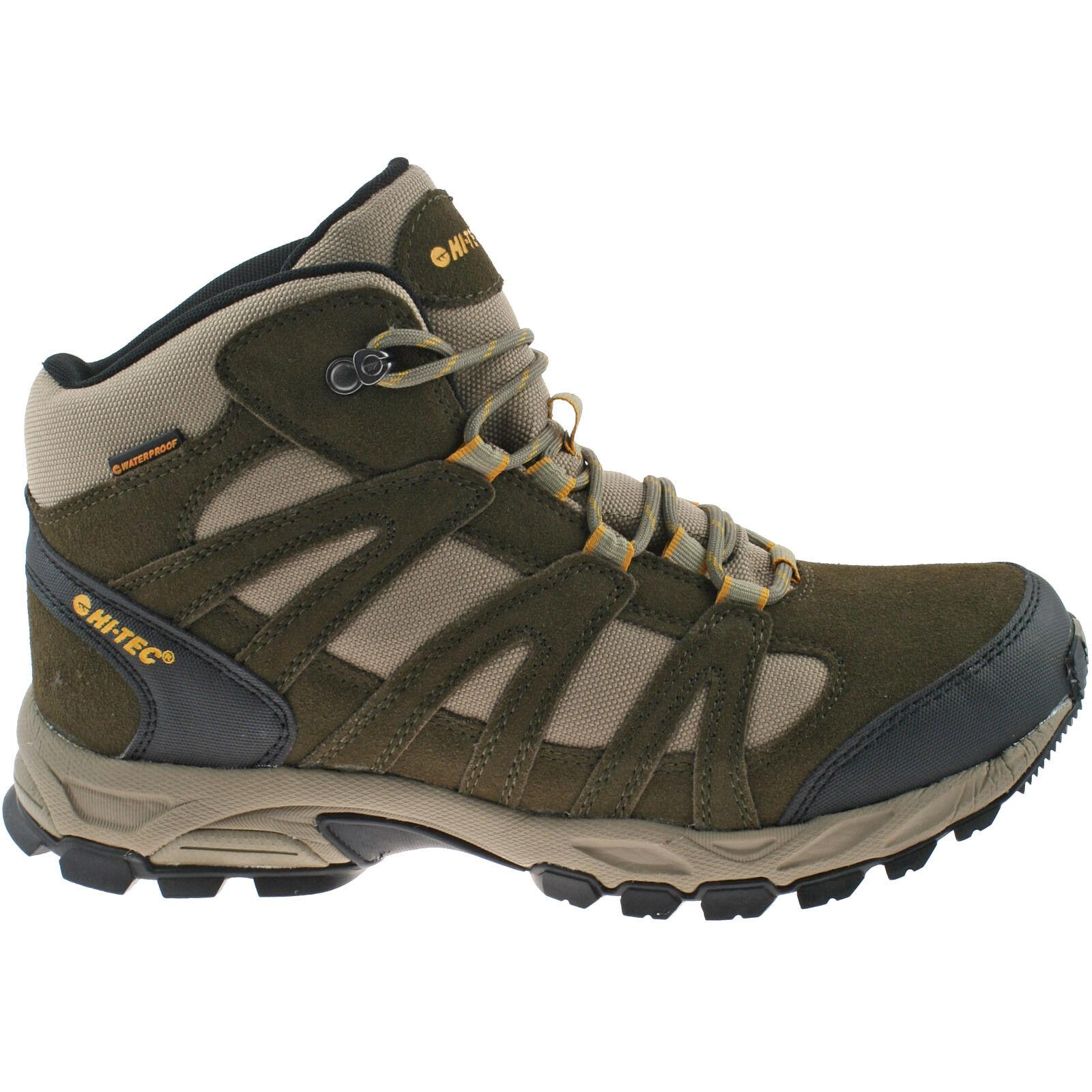 Uomo Hi-Tec Impermeabili Scarpe da Trekking Impermeabili Hi-Tec Taglia Passeggio Camoscio 3b92d8