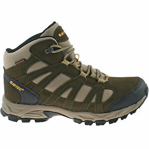 f124510e6a3cf Details about MENS HI-TEC WATERPROOF HIKING BOOTS SIZE UK 7 - 13 WALKING  SUEDE BROWN ALTO MID