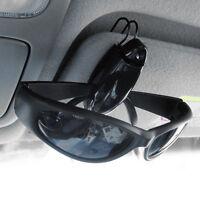 Black Car Vehicle Sun Visor Sunglasses Eye Glasses Card Pen Holder Clip Car