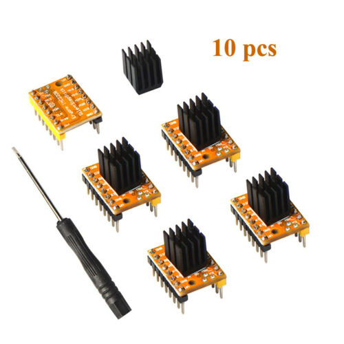 10xTMC2208 Stepper Motor Driver For 3D Printer Motherboard Packed with Heat Sink
