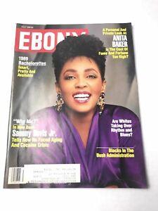 Ebony Magazine July 1989 Anita Baker Cover Sammy Davis Jr ...