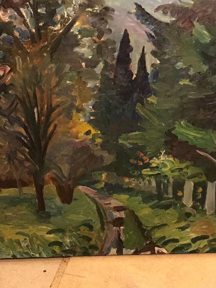 Oliemaleri, Ejvind Olsen, motiv: Landskab