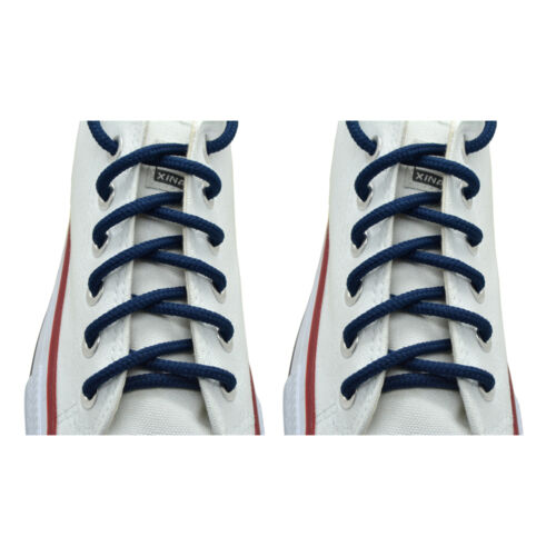 """2 Pairs Round Athletic Sport Sneaker /""""Navy Blue/"""" 27,36,45,54/"""" String Shoelace"""