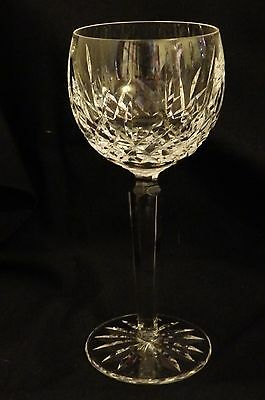 "Waterford Ireland Crystal 7 3/8"" LISMORE Wine Hock Goblet Stemware"