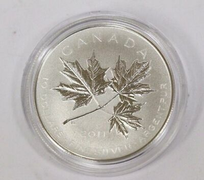 17413 NT 2015 The Canadian Maple Leaf Shaped Prf $20 Silver Coin 1oz .9999Fine
