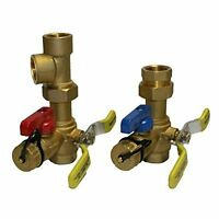 Rheem Rtg20220ab Webstone Tankless Water Heater Service Valve Kit, Clean Brass , on sale