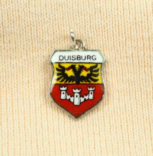 ANTIKO Bettelarmband Wappen Anhänger Charm Pendant Emaille Silber 800 Duisburg