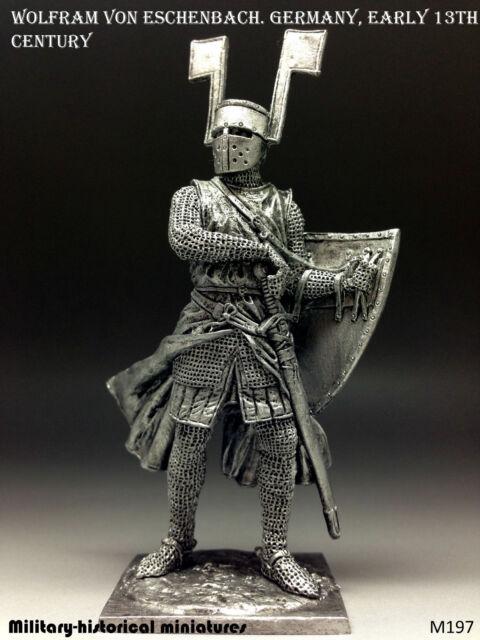Wolfram von Eschenbach. Germany, Tin toy soldier 54mm, figurine, metal sculpture