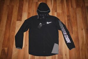 41af53bf50338 Details about NWT NIKE MEN CITY CORE LIGHT FULL ZIP HOODED RUNNING JACKET  833549 010 SZ S