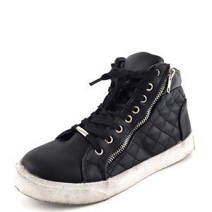 1435ec6588c Image is loading Steve-Madden-Decaf-Black-Fashion-Sneakers-Women-039-