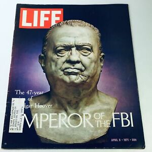 VTG Life Magazine April 9 1971 - 47 Year Reign: Edgar Hoover Emperor of the FBI