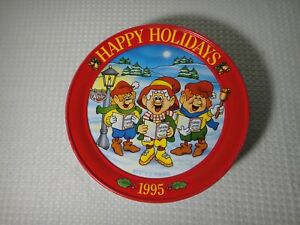 Vintage-1995-Keebler-Happy-Holidays-Christmas-Cookie-Tin-Collectible-Container