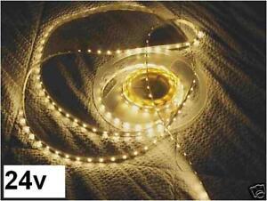 24v-24-v-STRISCIA-STRINGA-LED-1m-ADESIVA-BIANCO-CALDO