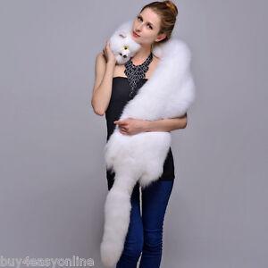 White fox collar